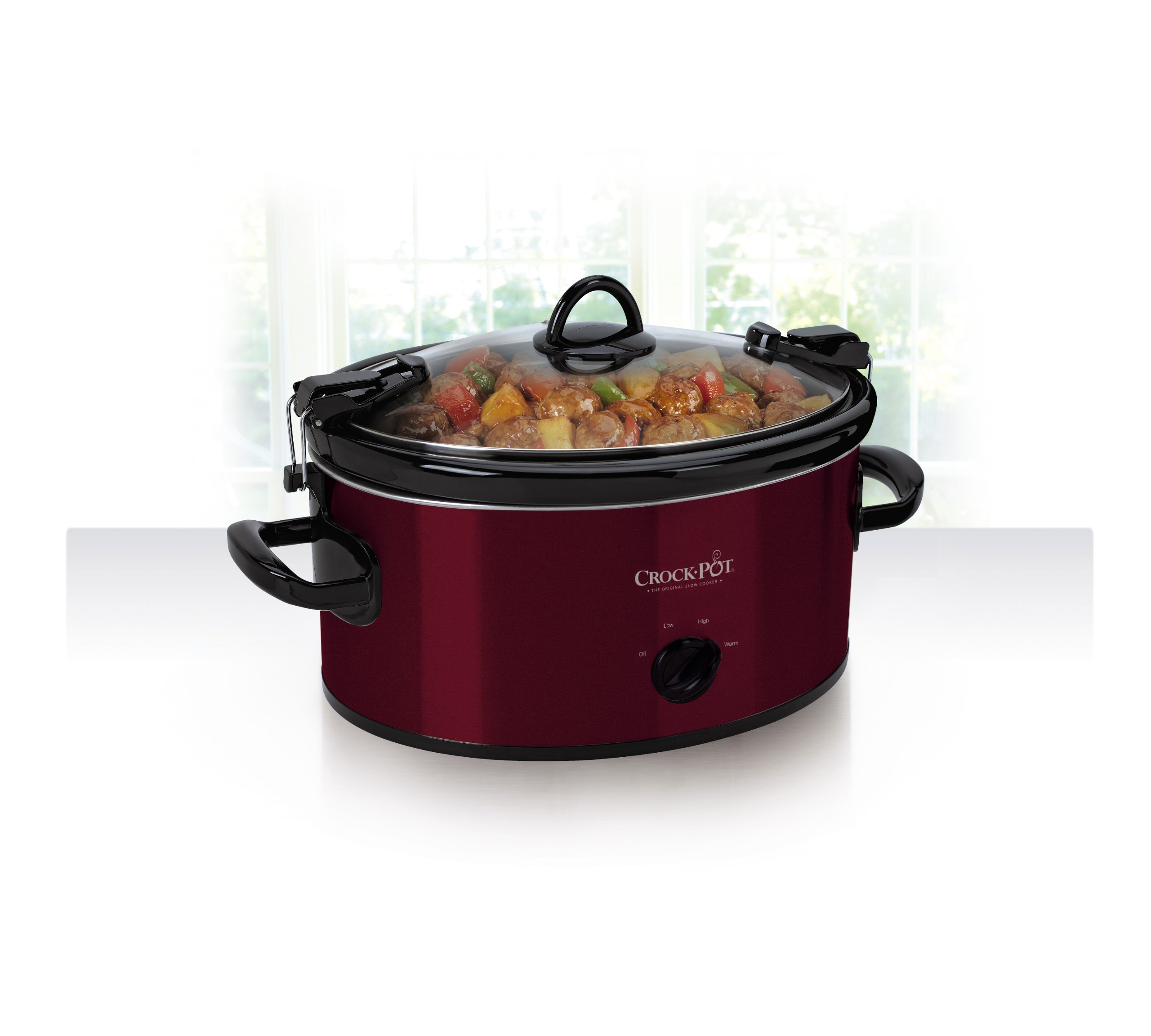 Crock-Pot 6-Quart Cook & Carry Oval Manual Portable Slow Cooker, Red by Crock-Pot (Image #3)