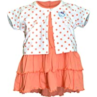Orange and Orchid Baby Girl's A-Line Knee-Long Dress (Pack of 2)