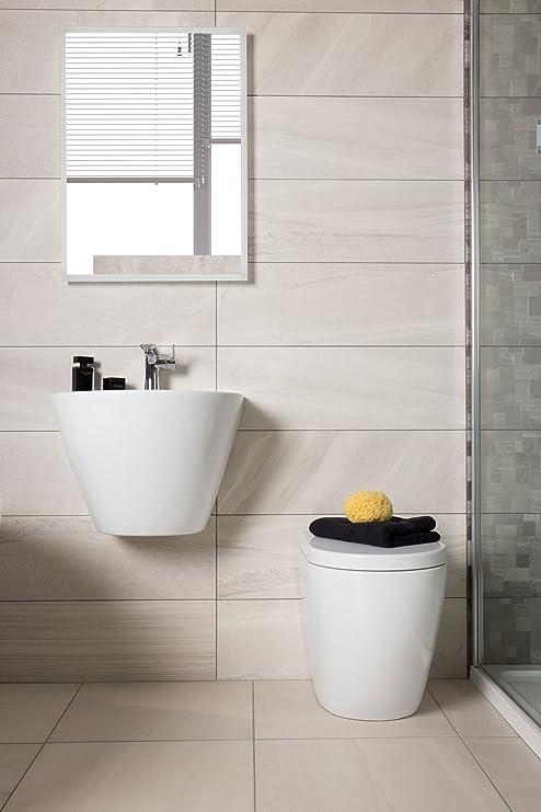 Lumen grigio piastrelle di ceramica da cucina bagno 25 x 75 cm ...