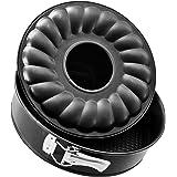 Zenker Black Metallic Tortiera Apribile 2 Fondi, Acciaio, Nero, Diametro 30 cm