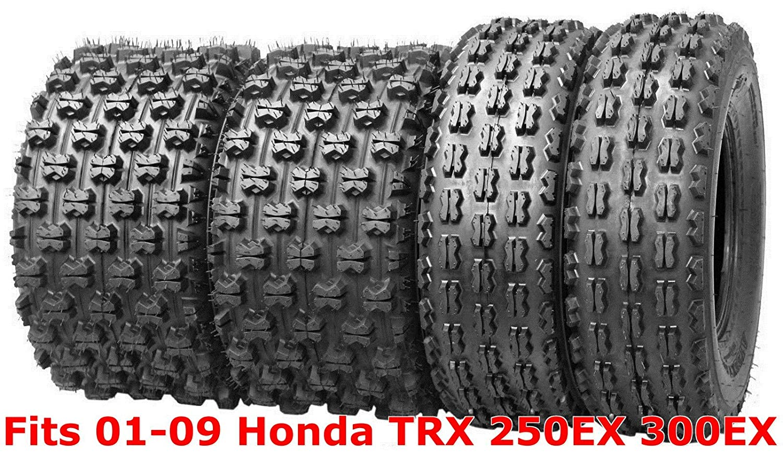 4 WANDA Sport ATV tires 22x7-10 & 22x10-9 01-09 Honda TRX 250EX 300EX GNCC Race