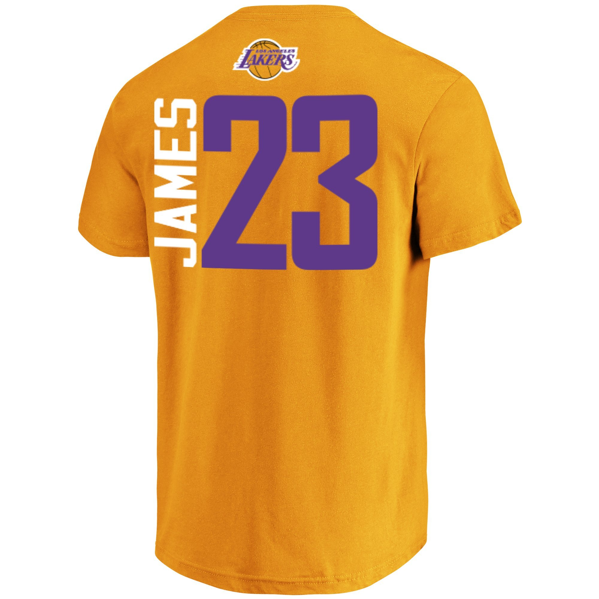 9c0887f6cfb Majestic Lebron James Los Angeles Lakers  23 Men s Vertical Player T ...