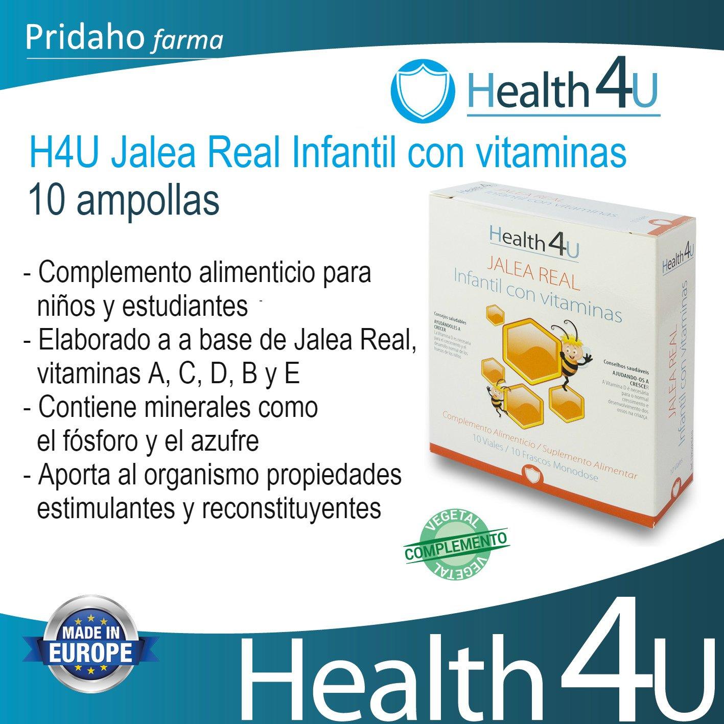 H4U Jalea Real Infantil Con Vitaminas 10 viales: Amazon.es: Belleza