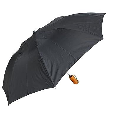"RainStoppers Umbrella Auto Open Deluxe Umbrella, Black, 42"""
