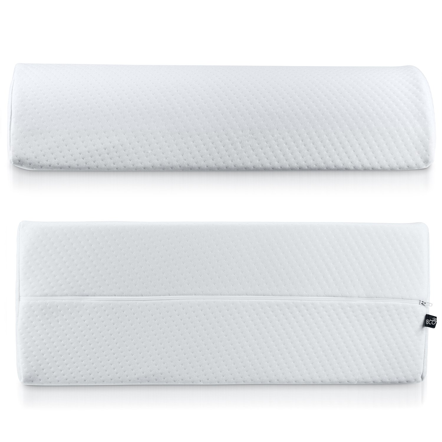 Abco Tech Half Moon Pillow Bolster - Pain Relief Memory Foam Cushion with Removable/Washable Cotton Cover – Reduced Stress on Spine, Effective Support for Side and Back Sleepers etc. (White) by Abco Tech (Image #7)