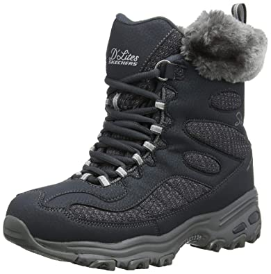 e5fd8782f7c854 Skechers Women s D Lites-Bomb Cyclone. Short Lace Up Boot with Fur Collar