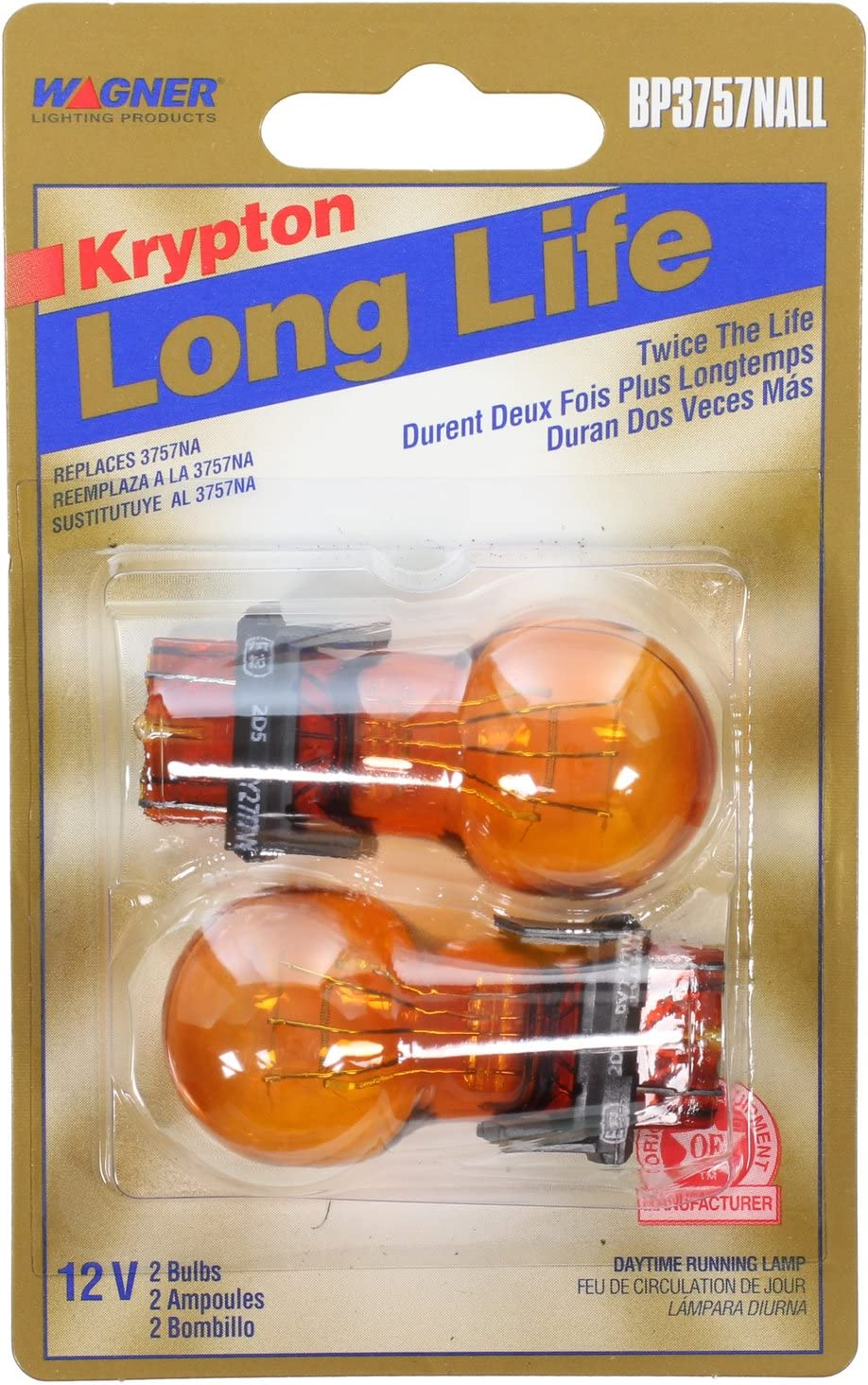 Contains 2 Bulbs SYLVANIA Amber Bulb Ideal for Parking and Turn Signal Applications. Side Marker 3757A Long Life Miniature