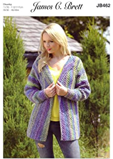 James C Brett JB462 Knitting Pattern Womens Jacket in James C Brett Marble  Chunky 421ae7a84