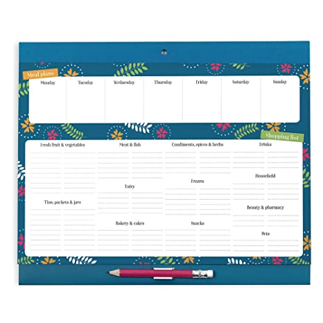 Boxclever Press Grocery List Magnet Pad for Fridge  Meal planner & Grocery  list  Weekly planner with easy tear-off grocery lists  Organize meal prep