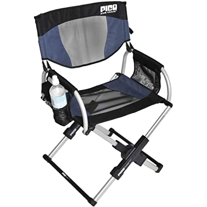Superior GCI Outdoor Pico Compact Folding Camp Chair With Carry Bag, Navy