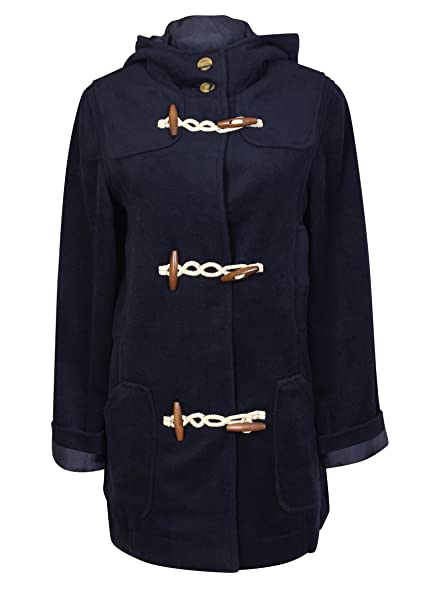 New Tommy & Kate Ladies Navy Corduroy Duffle Coat Jacket Size 14 ...