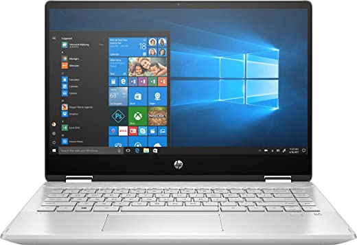 HP Pavilion x360 – 14-dh1013ns – laptop 14 inch Full HD (Intel Core i7-10510U, 8 GB RAM, 512 GB SSD, NVIDIA MX250-2 GB, Windows 10) natuurlijk zilver – Spaans QWERTY-toetsenbord