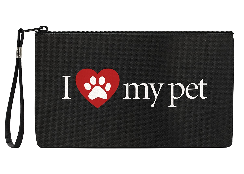 Snaptotes I Love My Pet Wristlet Clutch Purse