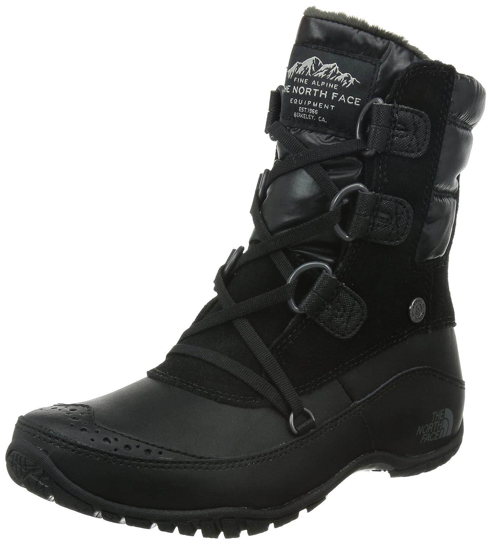 The North Face Nuptse Purna Shorty Boot Women's B00RW5NRHY 7 B(M) US|Tnf Black/Plum Kitten Grey (Prior Season)