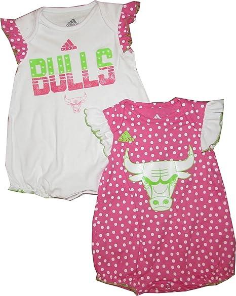 new style 074d2 dd8dd Amazon.com: Chicago Bulls Pink Girls 2pc Creeper Set Infant ...