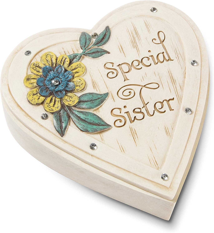 4 x 1-1//4 Pavilion Gift Company 41079 Sister Heart Keepsake Box