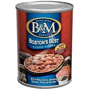 B&M Baked Beans, Boston's Best, 16 Ounce (Pack of 12)
