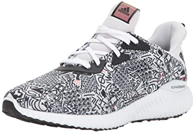 adidas Performance Boys' Alphabounce Starwars j Running Shoe, White/Grey  One/Black
