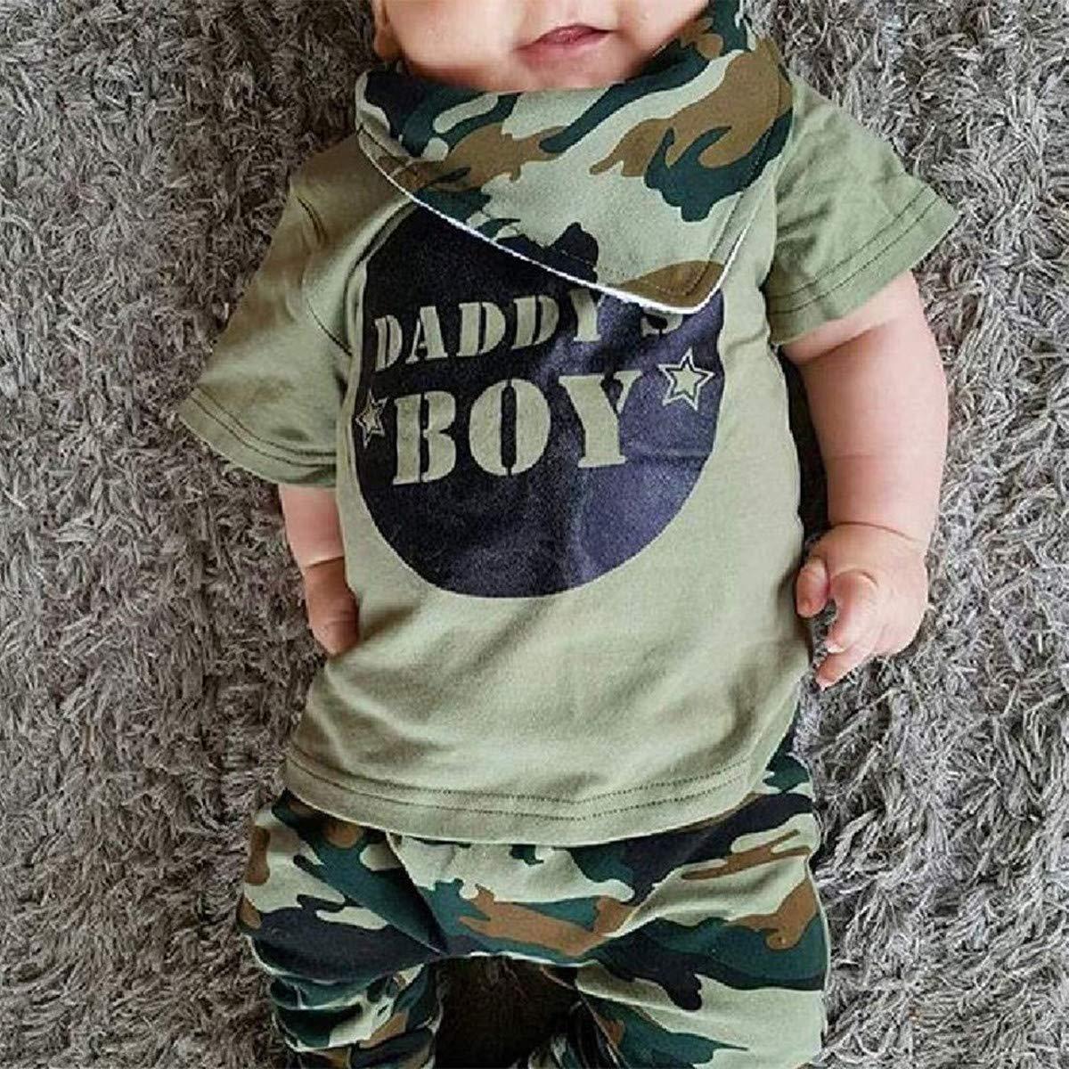 0715e23b95b1f Amazon.com: GRNSHTS Baby Kids Family Matching Clothes Set Camouflage Short  Sleeve T-Shirt Tops Long Pants Set: Clothing