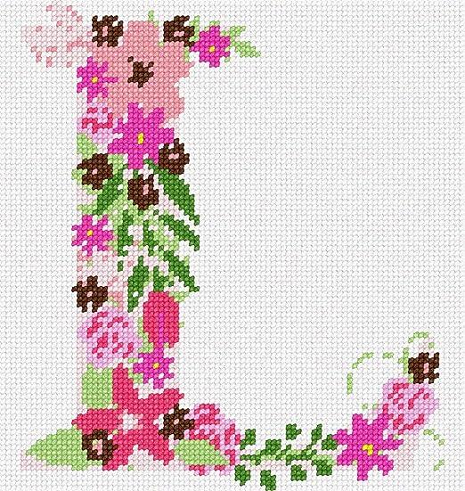 pepita The Letter I Flowering Needlepoint Kit