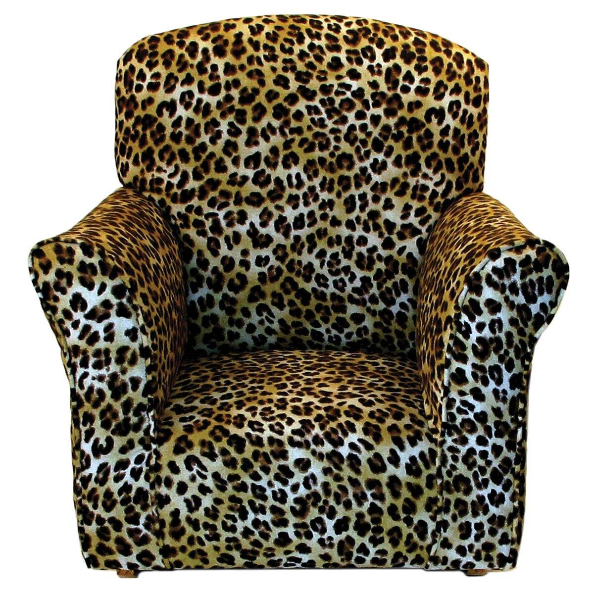 Brighton Home Furniture Toddler Rocker in Cheetah Printed Cotton