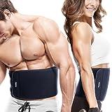 [Fitnessgürtel] FREETOO Bauchweggürtel Schwitzgürtel für Einfaches und effektives Abnehmen hochwertige Rückenbandage Waist Trimmer für Damen und Herren auf Sport Training Fitness Büro und Alltag anwenden