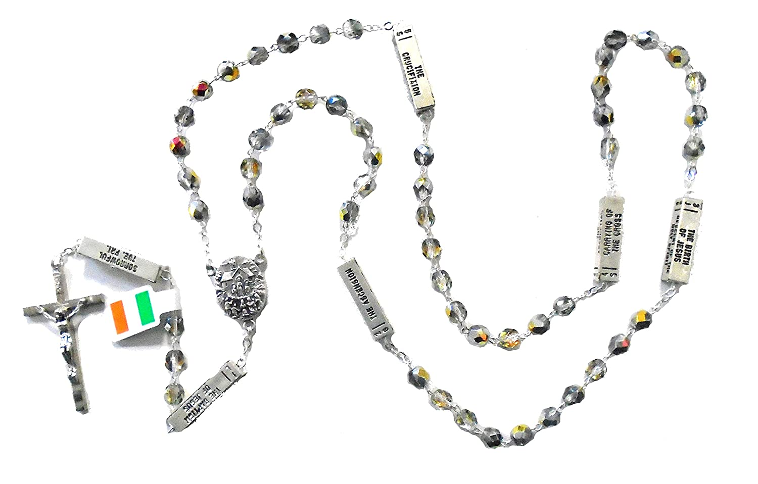 """Marea Mysteries"" Grey Bead Rosary by J.C. Walsh & Sons- Made In Ireland"