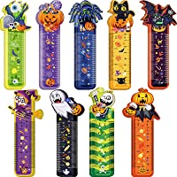 108 Pieces Halloween Bookmark Rulers, 9 Designs, Ruler Markers with Halloween Themed Prints for Holiday Decorations…