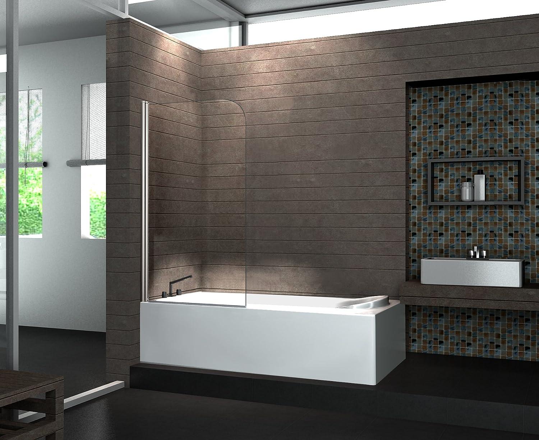 Duschabtrennung badewanne  Duschtrennwand WELLNESS 80 x 140 (Badewanne): Amazon.de: Baumarkt