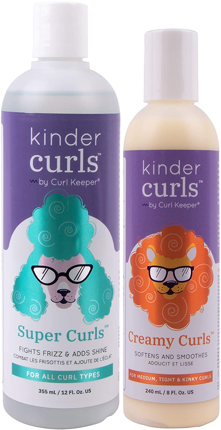 Amazon Com Curly Hair Solutions Kinder Curls Super Curls 12 Ounces 354 Milliliters And Kinder Curls Creamy Curls 8 Ounces 236 Milliliters Set Beauty