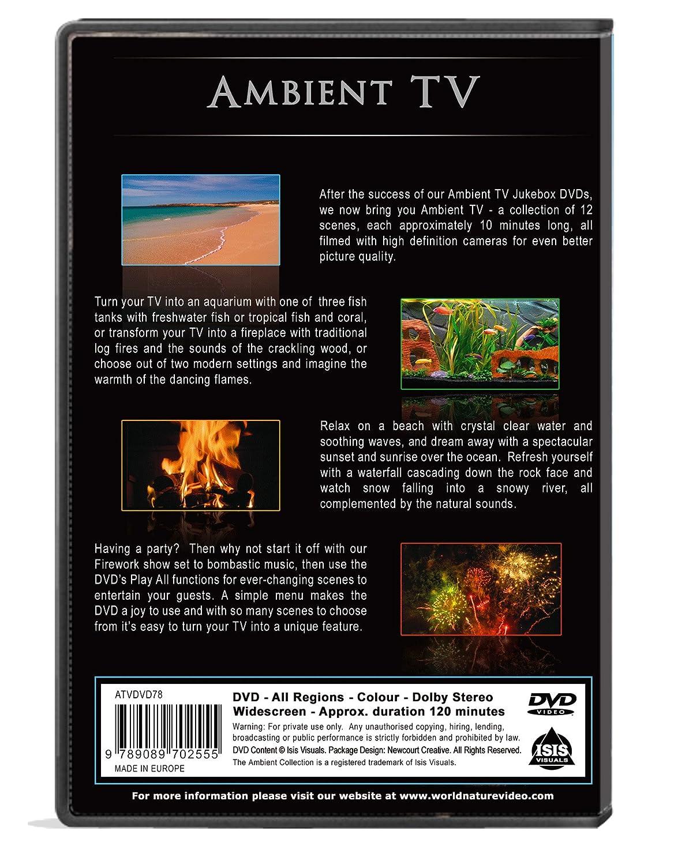 amazon com background dvd ambient tv 12 scenes in hd
