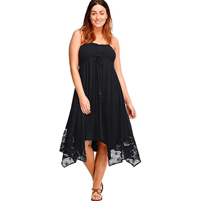 Ellos Women\'s Plus Size Handkerchief Hem Dress