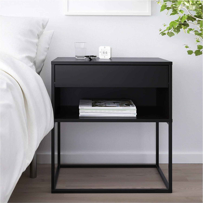 IKEA Vikhammer Table de nuit Noir: Amazon.fr: Cuisine & Maison