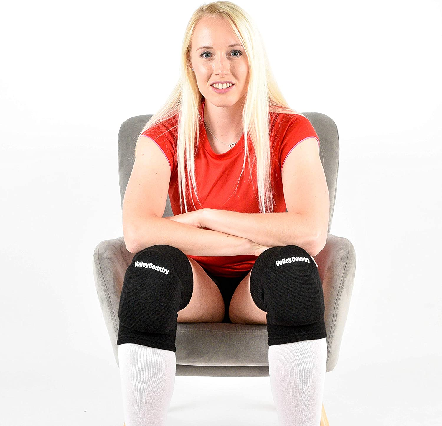 VolleyCountry Volleyball Knee Pads, 1 Pair, Superior Protection and Exceptional Comfort for Your Knees