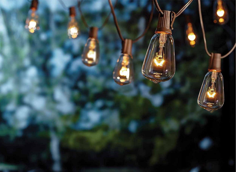 Amazon.com : Goothy 10Ft Outdoor Patio String Lights, ST38 Edison ...
