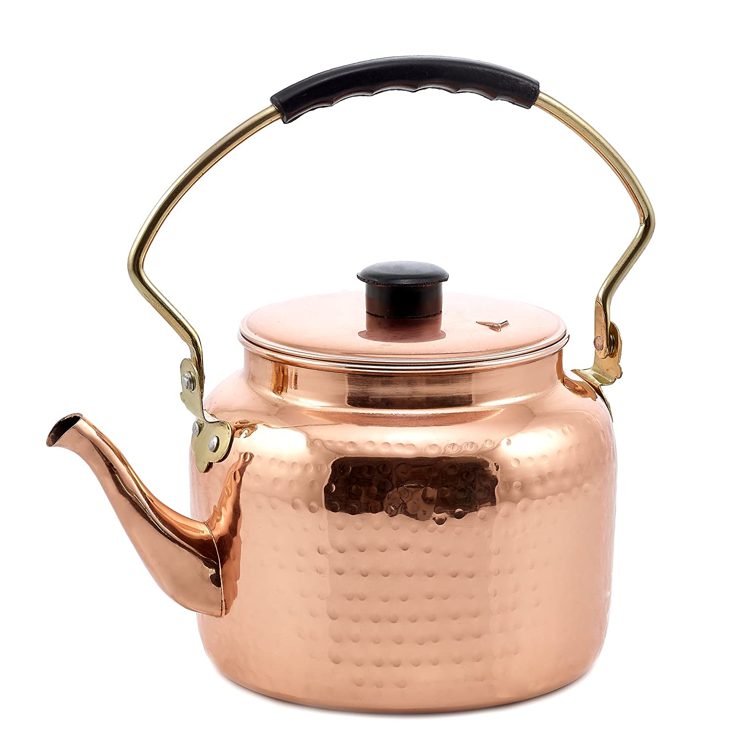 Old Dutch 875 International Hammered Tea Kettle, Copper, 2 quart Old Dutch International