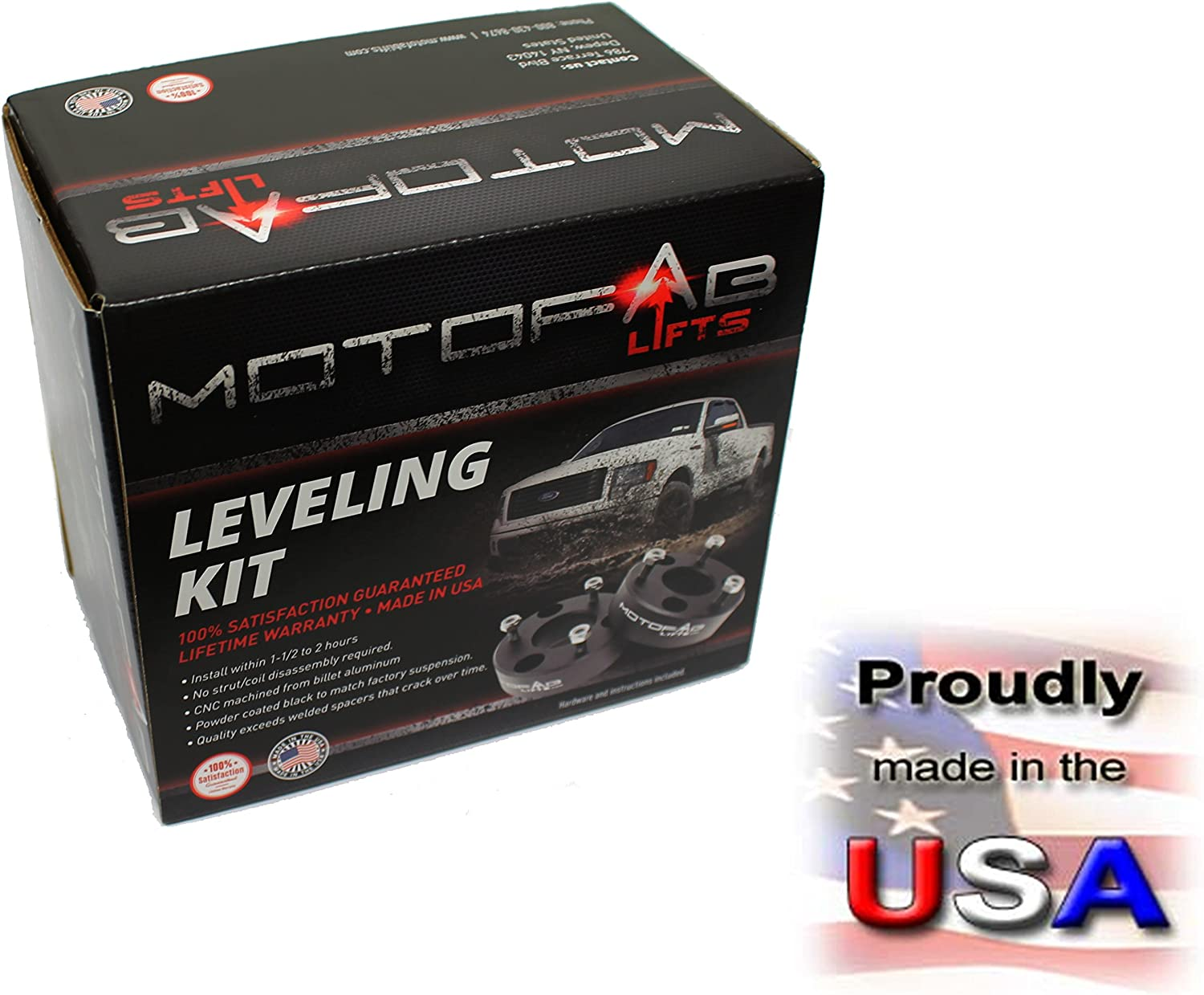 MotoFab Lifts DR-2.5-2.5 Front Leveling Lift Kit That Will Raise The Front Of Your Dodge Ram Pickup 2.5