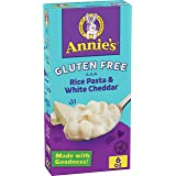 Annie's Shell Pasta & Creamy White Cheddar Macaroni and Cheese, Gluten Free, 6 oz (Pack of 12)