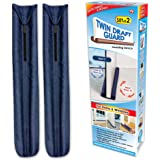 Twin Draft Guard Value Pack of 2, Blue – Energy Saving Under Door Draft Stopper