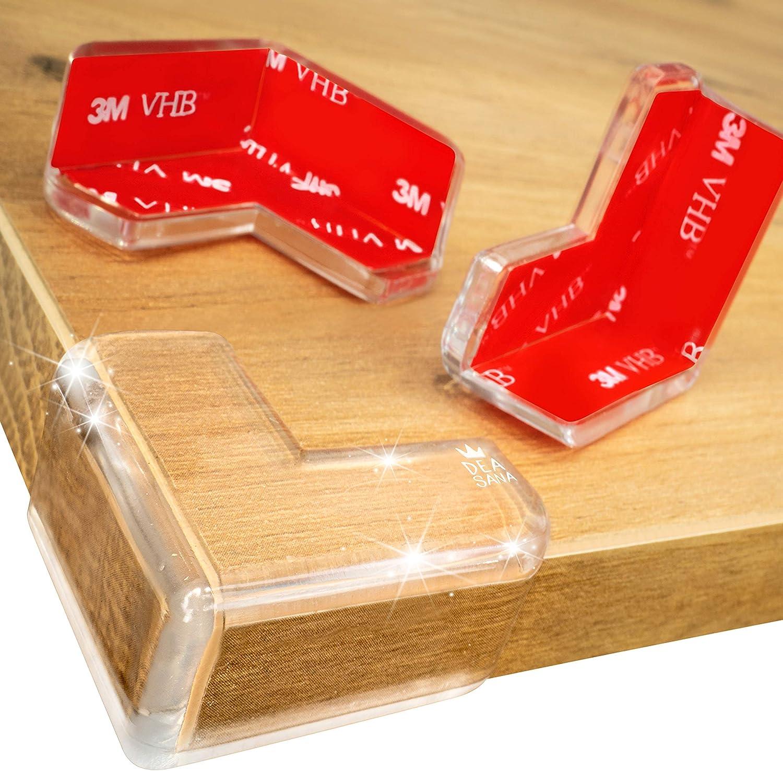 Extra Grandes para Protecci/ón Total Cobertura Doble Gruesa a Prueba de Ni/ños Pack 14//28 Protectores de Mesa Transparente con Bi-Adhesivo 3M VHB DEASANA/® 28 Protector de Esquinas para Beb/és