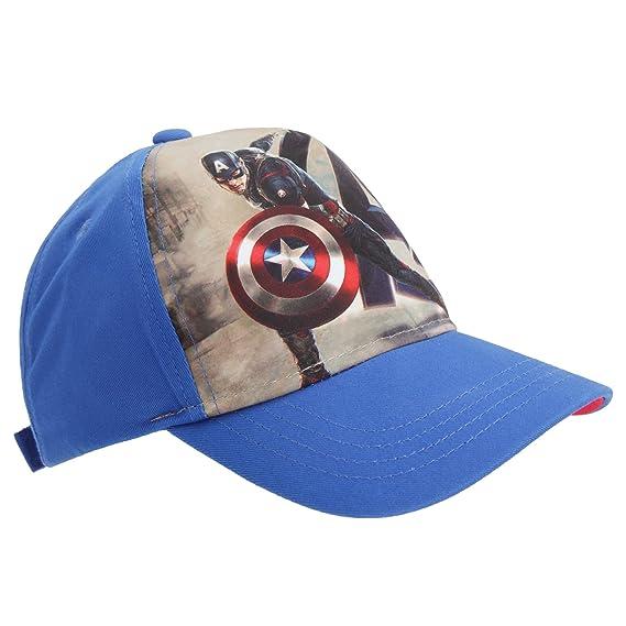 8bd8b06862dd Captain America - Casquette - Enfant (Taille unique) (Bleu)  Amazon ...