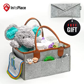 7baae7c81013 Amazon.com   Elegant Baby Diaper Caddy Organizer