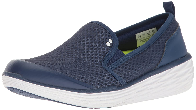 Ryka Women's Neve Fashion Sneaker 8 B(M) US Navy/Lime