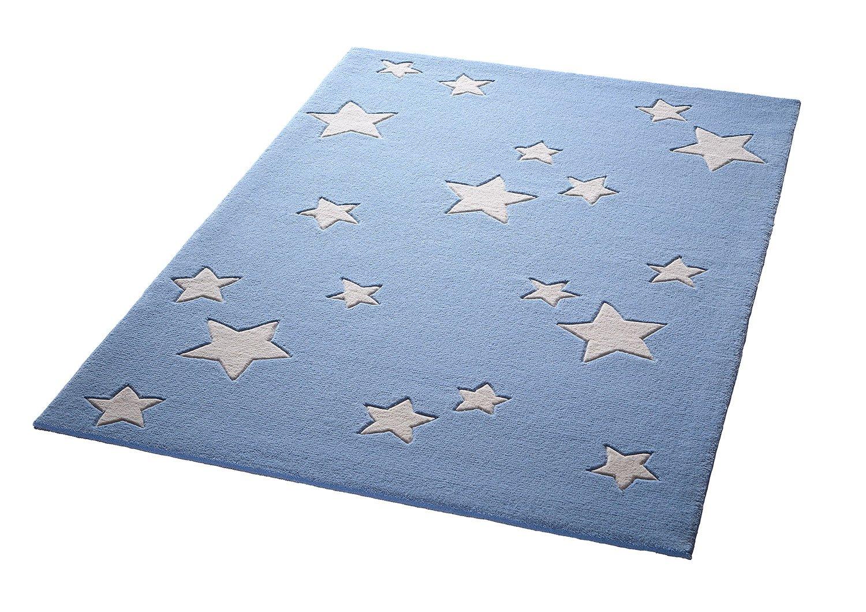 Bellybutton Sternenzelt Moderner Markenteppich, Neuseelandwolle, Blau, 190 x 130 x 1 cm