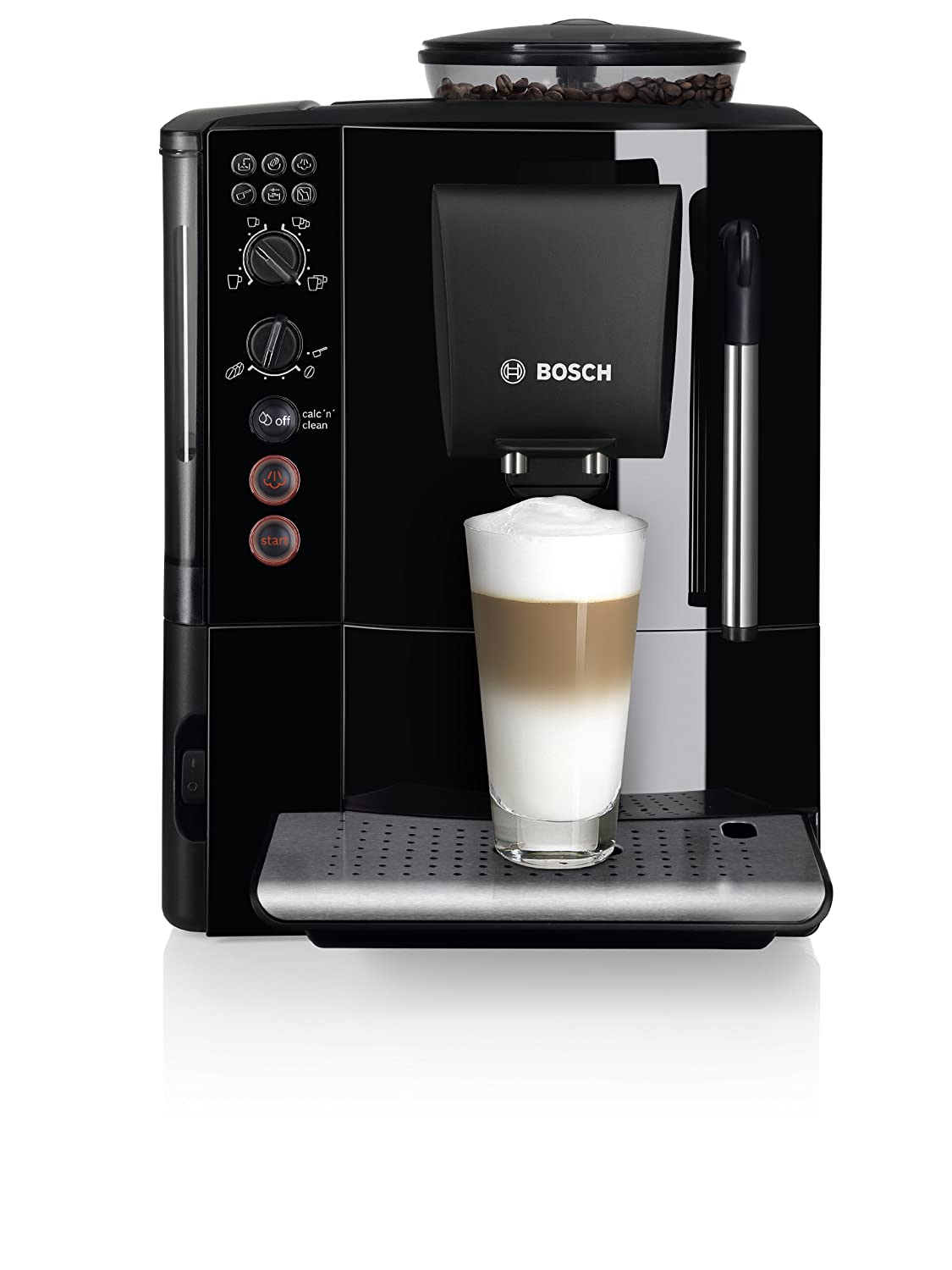 Electronic Test Cases For Coffee Machine bosch tes750129rw verocafe bean to cup automatic coffee machine black amazon co uk kitchen home