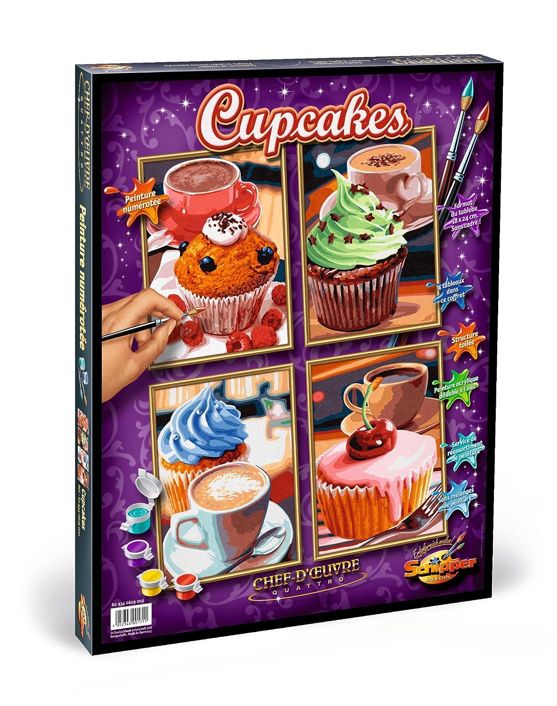 Noris Spiele Schipper 609340629 - Malen nach Zahlen - Cupcakes ...