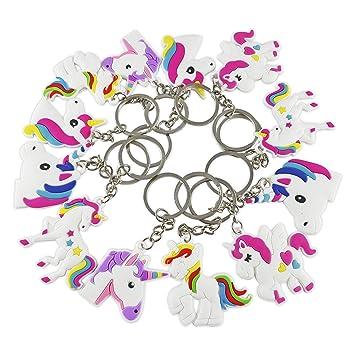 CZ Play-Llavero unicornio |Lote de 12|✮✮GARANTÍA DE POR VIDA✮✮-Llavero para niño con diseño de unicornio-Llavero ideal para regalo de ...