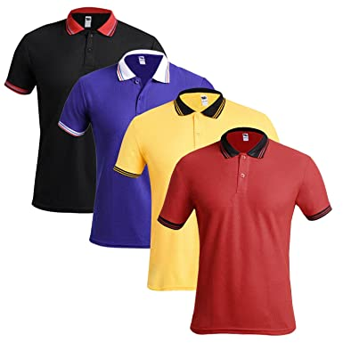 TSX Solid Men's Polo T-Shirt Pack of 4