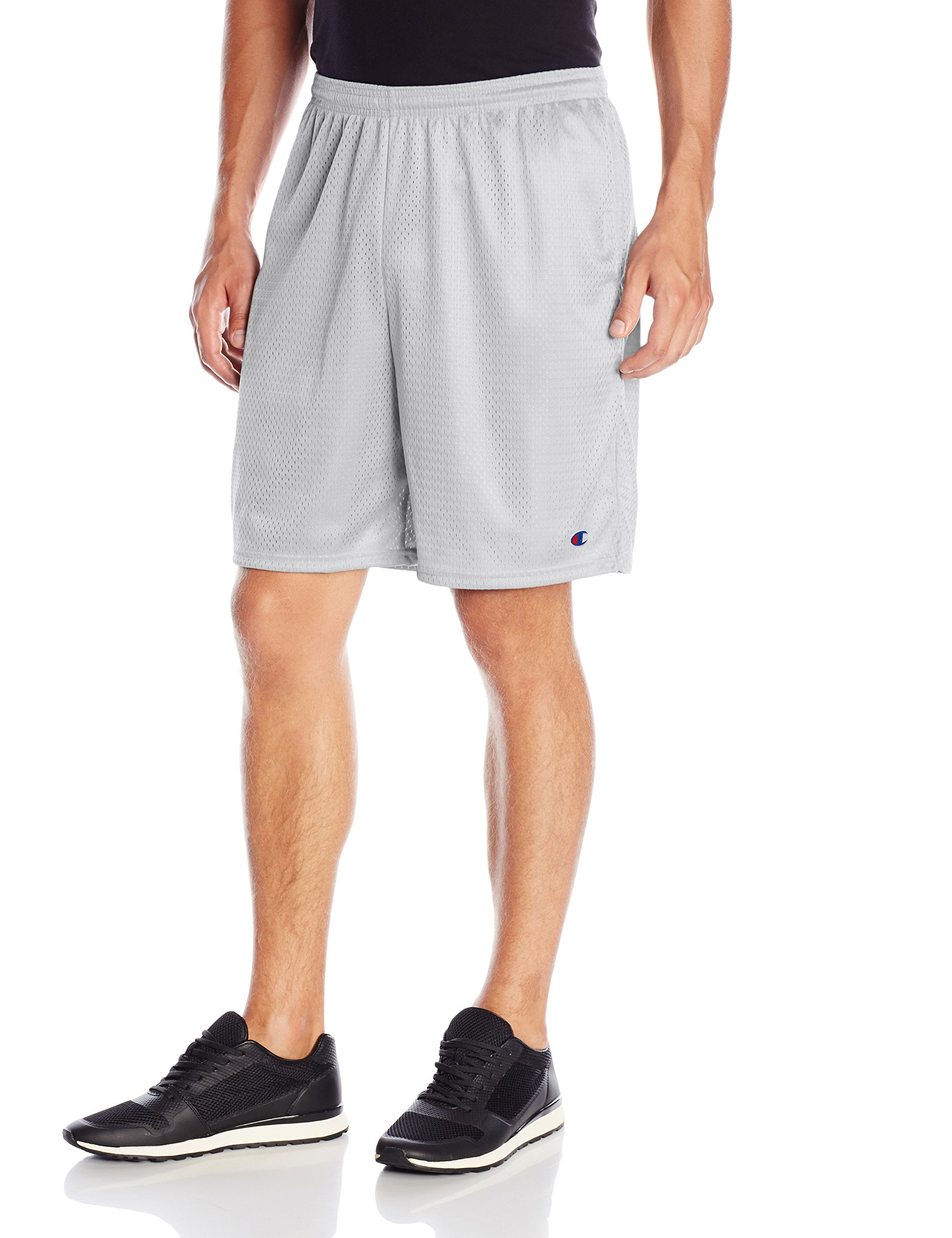 Champion  Men's Long Mesh Short With Pockets,Athletic Gray,XX-Large by Champion