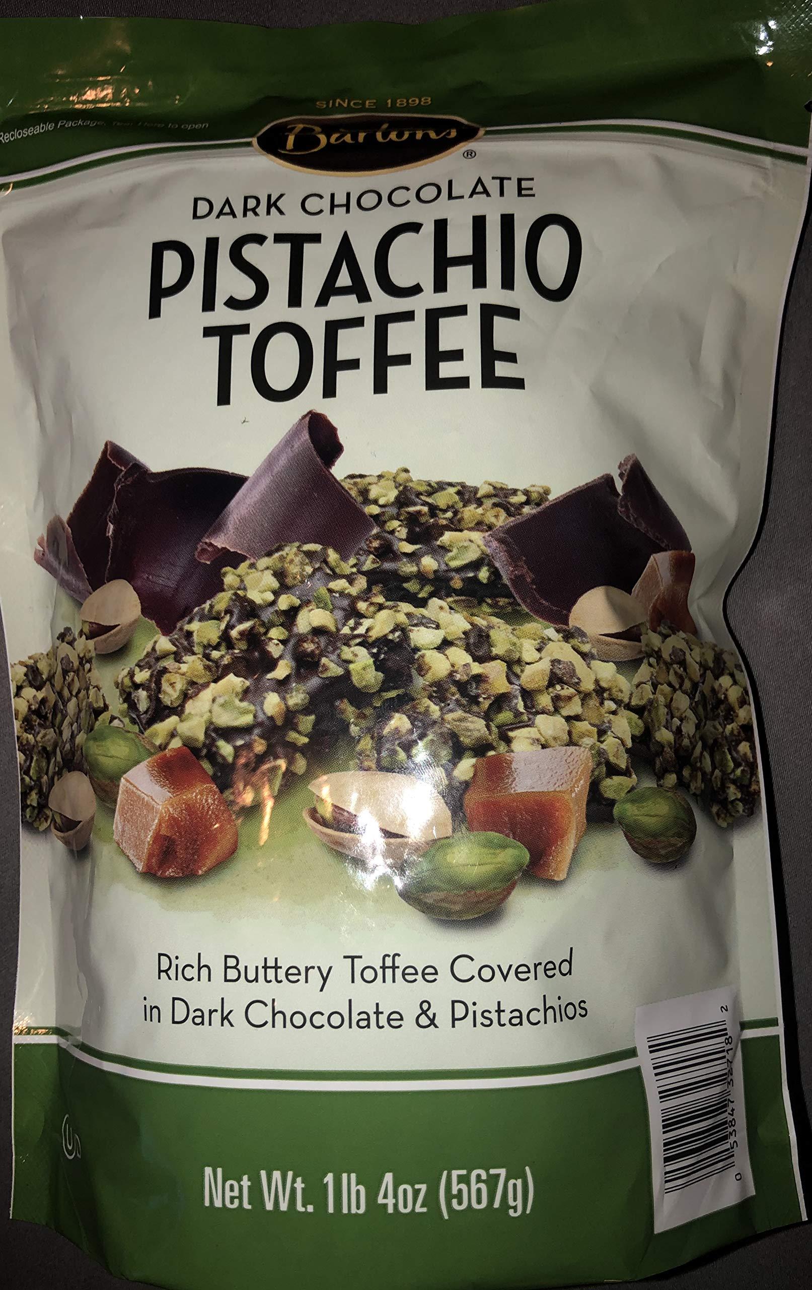 Bartons Dark Chocolate Pistachio Toffee Bites (1 Bag (1 lb 4 Oz))